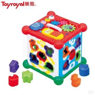 【日本《樂雅 Toyroyal》】新型聲光益智六面盒