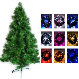 【聖誕裝飾品特賣】台灣製4呎/4尺(120cm特級綠松針葉聖誕樹-不含飾品+100燈LED燈一串-可選色)