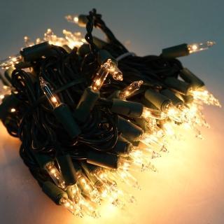 【聖誕裝飾特賣】聖誕燈串-100燈清光樹燈(鎢絲燈-溫暖清光色(可搭聖誕樹)