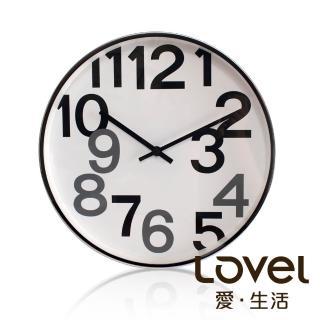 【LOVEL】時尚簡約風格鋁框壁鐘/掛鐘30cm(個性數字B)