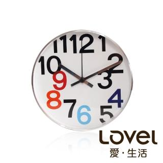 【LOVEL】時尚簡約風格鋁框壁鐘/掛鐘20cm(個性數字B)
