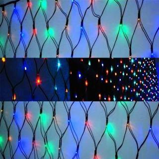 【聖誕裝飾特賣】聖誕燈裝飾燈LED燈 128燈 網燈-四彩色光(高亮度又省電)