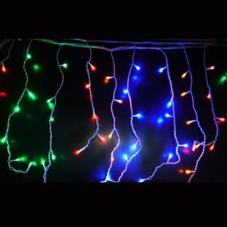 【聖誕裝飾特賣】聖誕燈裝飾燈LED燈100燈冰條燈-四彩光(附控制器跳機)