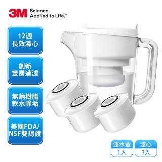 【3M】經典款即淨長效濾水壺WP3000(1壺+3濾心)