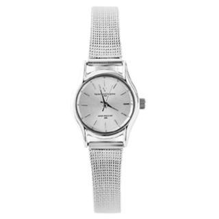 【Valentino范倫鐵諾】輕巧超薄設計錶款 小鏡面鋼索手錶婉錶(玖飾時咚E532)