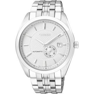 【CITIZEN】NP系列 上乘格調都會機械腕錶(鋼帶-銀白 NJ0030-58A)