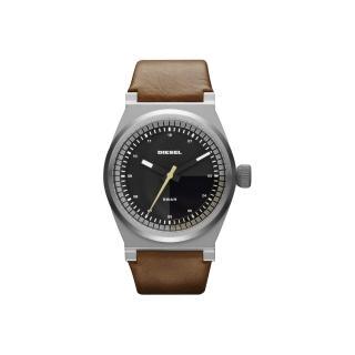 【DIESEL 】探索雷達個性腕錶-咖啡/皮帶(DZ1561)