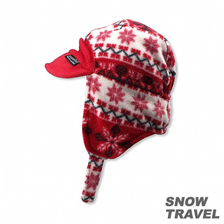 【SNOW TRAVEL】PORELLE防水透氣雙面帽(紅色)