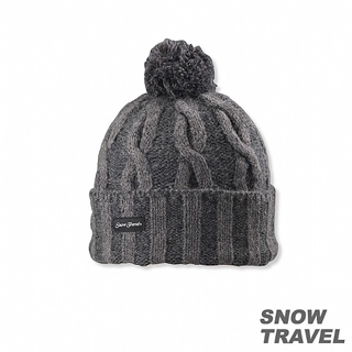 【SNOW TRAVEL】圓球防風保暖羊毛帽(深灰)