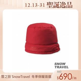 【SNOW TRAVEL】PRIMALOFT保暖雙面漁夫帽(紅色)