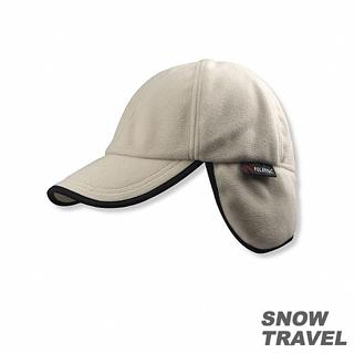 【SNOW TRAVEL】WINDBLOC防風保暖遮耳棒球帽(卡其)
