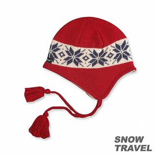 【SNOW TRAVEL】 3M防風透氣保暖羊毛遮耳帽(紅色)
