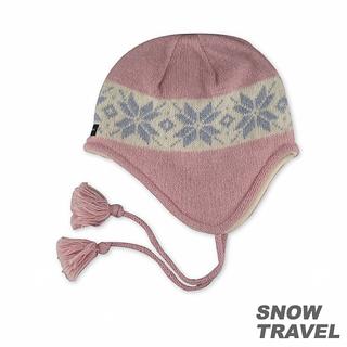 【SNOW TRAVEL】 3M防風透氣保暖羊毛遮耳帽(粉紅)