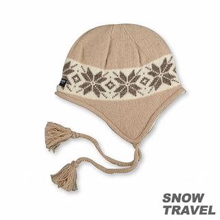 【SNOW TRAVEL】 3M防風透氣保暖羊毛遮耳帽(駝黃)