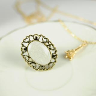 【Lady c.c.】復古珠寶概念華麗白耀戒指