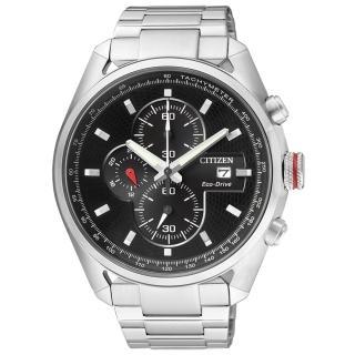 【CITIZEN】創新思維三環運動腕錶(銀黑 CA0360-58E)