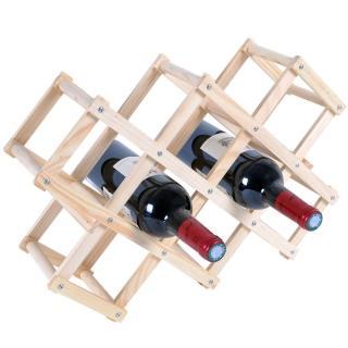 【WASHAMl】原木簡易紅酒架