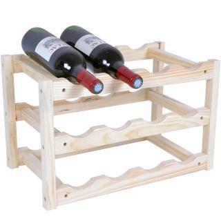 【WASHAMl】酒窖原木紅酒架