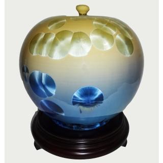 【台灣首席結晶釉大師彭文雄】開運陶源 結晶釉瓷器(8 inch聚寶盆 圓滿甕 聚寶罐)