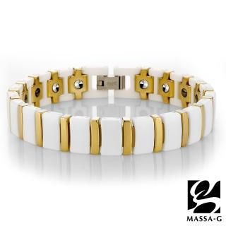 【MASSA-G】Deco系列 白金風華 陶瓷手環