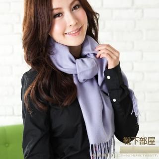 【靴下部屋】法式歐夏蕾˙純色圍巾(紫羅藍)