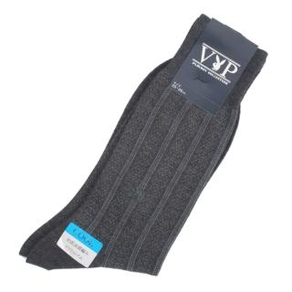 【PLAYBOY】直條紋棉質紳士長襪(深灰色)