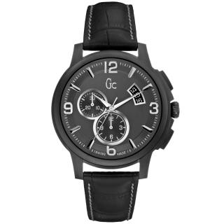 【Gc】卓越魅力都會計時腕錶(皮帶-灰黑 X83006G2S)