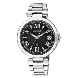 【CITIZEN】xC 華麗巴洛克都會電波腕錶(銀黑 EC2000-55E)