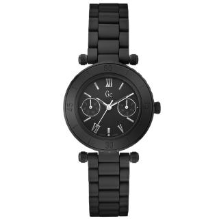 【Gc】經典時尚雙眼陶瓷錶(小-全黑 X35004L2S)