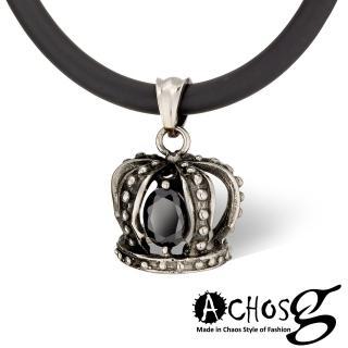 【ACHOS】魔幻加冕Magic crow 黑 潮流吊墬搭配鍺鈦項圈