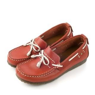 【ALAIN DELON】MIT真皮手工女休閒鞋W7368(磚紅色)