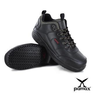 【PAMAX帕瑪斯安全鞋】戶外休閒型、專利銀纖維抑菌氣墊工作鋼頭鞋^(P00101H黑 男