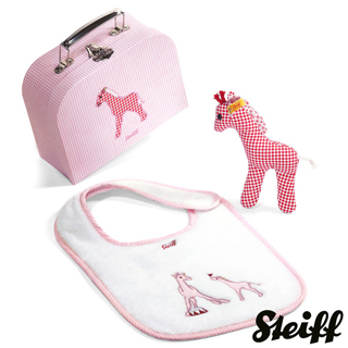【STEIFF德國金耳釦泰迪熊】Circus Giraffe Gift(行李箱系列)