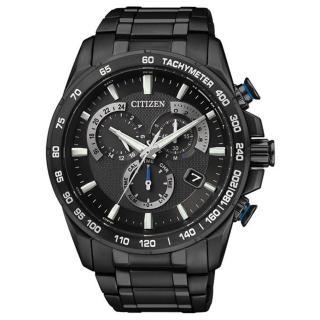 【CITIZEN 】逆光飛翔電波鈦金屬腕錶(全黑 AS8025-57E )