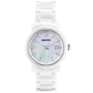 【GOTO】躍動元素時尚陶瓷腕錶(白銀 GC0167M-22-H21)