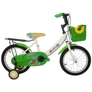 【Adagio】16吋酷樂狗打氣胎童車附置物籃(綠色)