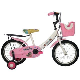 【Adagio】16吋酷樂狗打氣胎童車附置物籃(粉色)