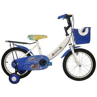 【Adagio】16吋酷樂狗打氣胎童車附置物籃(藍色)