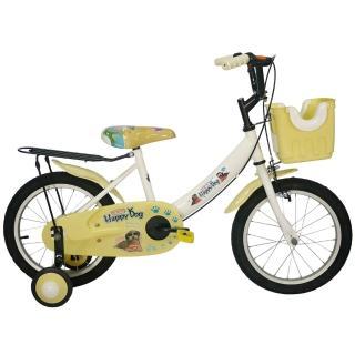 【Adagio】16吋酷樂狗打氣胎童車附置物籃(米色)