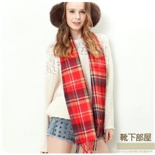 【靴下部屋】英格蘭約克風格紋圍巾(經典˙霓虹格)