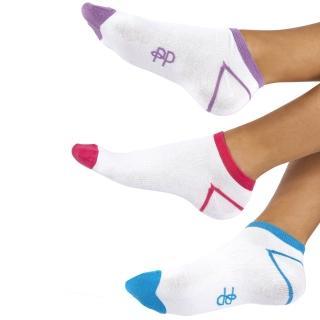 【摩達客】英國進口 Pretty Polly 運動短襪超值組(三入一組)