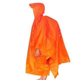 【COMPSOR】三用斗篷登山雨衣/戶外防水外帳/帳篷底布地墊/遮陽篷
