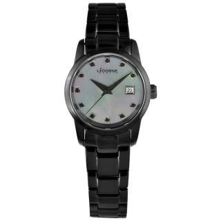 【LICORNE】光彩印象時尚腕錶-全黑(LI029LBUI)