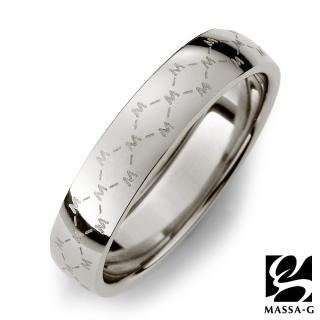 【MASSA-G】DECO系列 M. Class M04 經典 純鈦戒指-銀