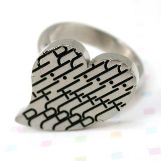 【伊飾童話】幾何密碼*鈦鋼戒指