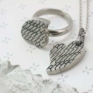 【伊飾童話】幾何密碼*鈦鋼戒指/項鍊組