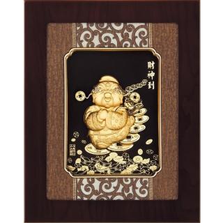 【開運陶源】金箔畫 純金 *古典中國風系列*Q版(財神到...27x34cm)