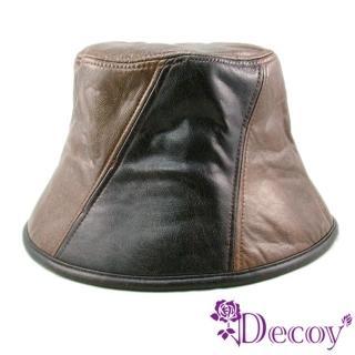 【Decoy】酷帥摩登*雙色皮革帽/L