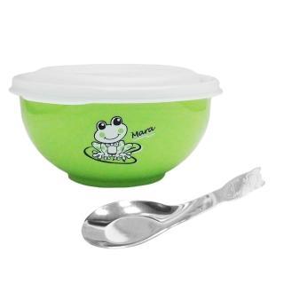 【斑馬牌】雙層隔熱兒童碗-附湯匙-4組入