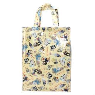 【Reiko Aoki】青木禮子 Dogs-custom彩繪防水中型手提袋(淺黃色)